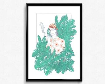 Smoke screen- giclée print