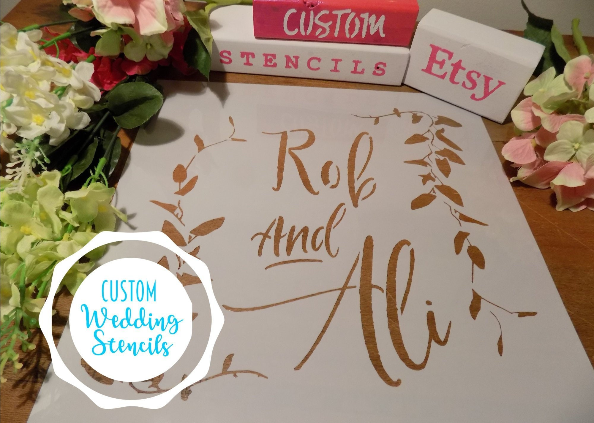 Custom Wedding Sign Stencils - Wedding Decor - Make Your Own Wedding ...
