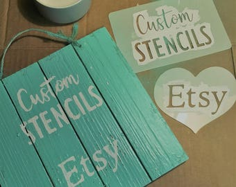 Custom Stencil | Spray Paint Logo | Custom Design | Reusable  Stencil - Plastic | Monograms | Weddings | Birthdays | Gifts | DIY |