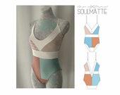 PDF bodysuit pattern, leotard pattern, woman, girl bodysuit pattern, Instant download, print XS, S, M,L, EU sizes 34. 36, 38, 40, 42.