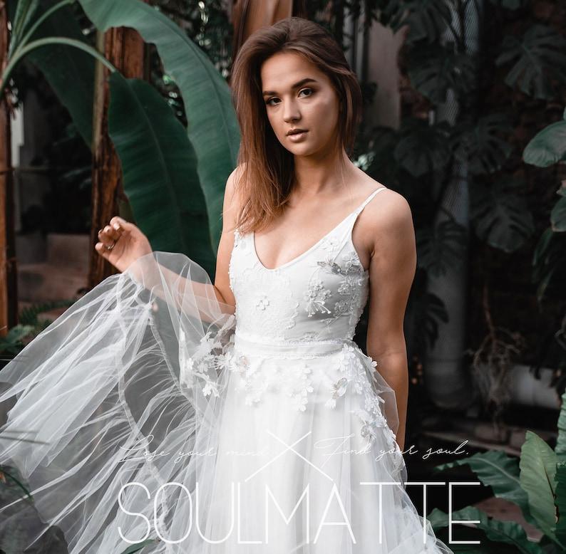 Wedding separates Alternative dress Bridal separates Hochzeit trennt Satin skirt T\u00fcllrock Braut Tulle skirt brautkleid bridal gown