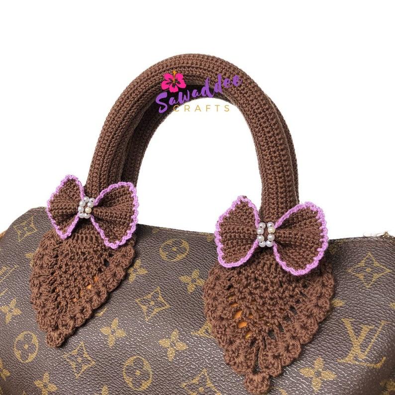 20c1c41c3445 Free Shipping Dark Brown Handmade Crochet Pineapple Design Bag