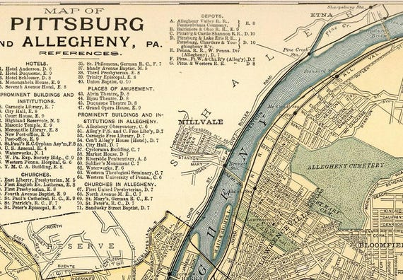 Pittsburgh City Map, 36