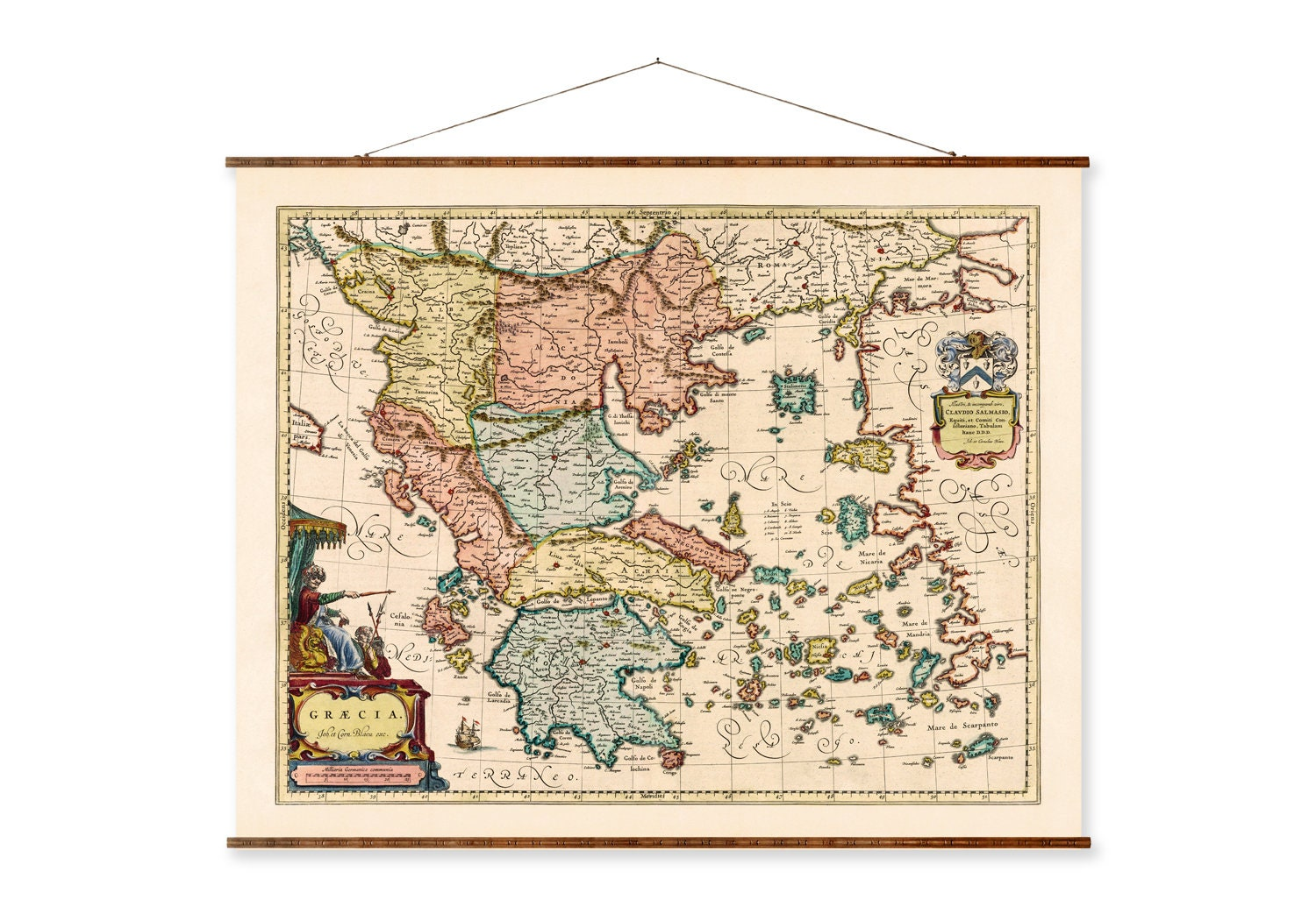 Old Map of Greece 1791 Vintage map Vintage Poster Wall Art Print