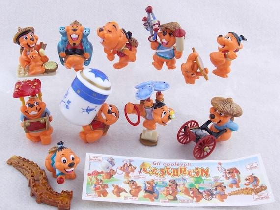 Complete 10 Miniatures Set Beaver Comic Kinder surprise