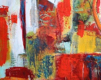 "Abstract acrylic, canvas, 40 x 50 cm, Title: ""Color Garden"""