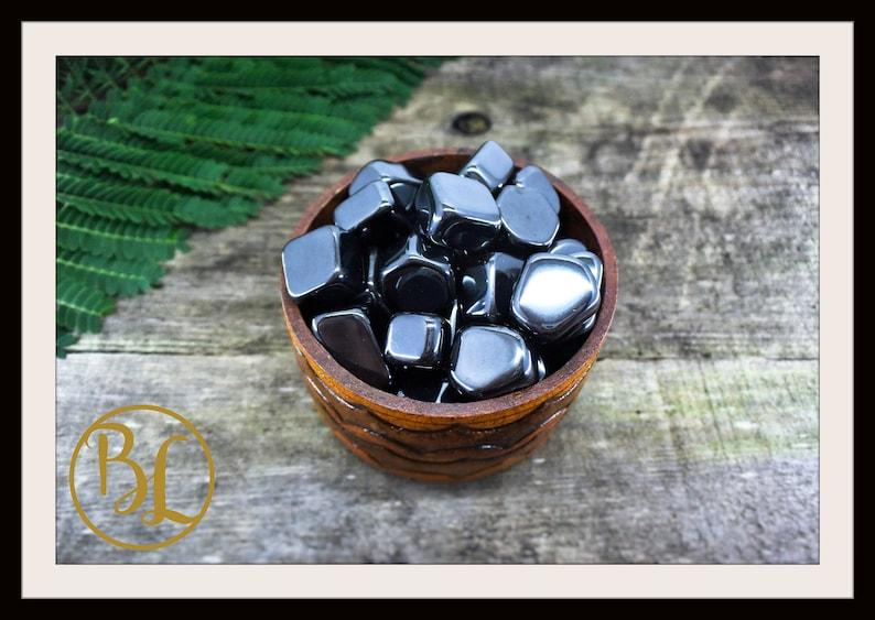 HEMATITE Gemstone 3 Piece Set Healing Hematite Crystal Set  Hematite Intention Stones Set  Hematite Lithiotherapy Hematite Crystal 3 Set