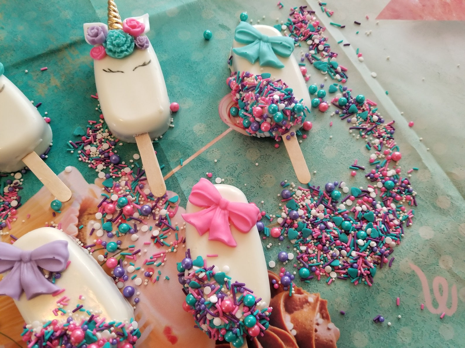 Unicorn Cake Pops Page Two