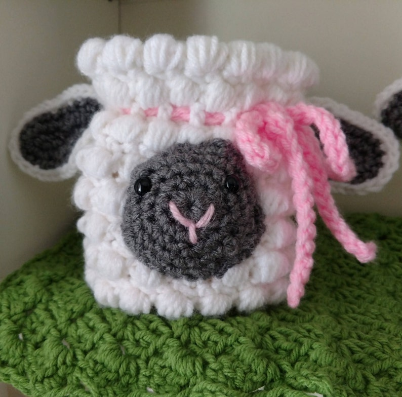 Easter Baby Sale! Sheep Drawstring Bag, Easter Crochet Sheep Purse, Nursery  Gift, Baby Best Seller, Country Goods