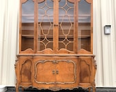 Gorgeous French Ornate Fancy China Cabinet Bookcase Bookcase