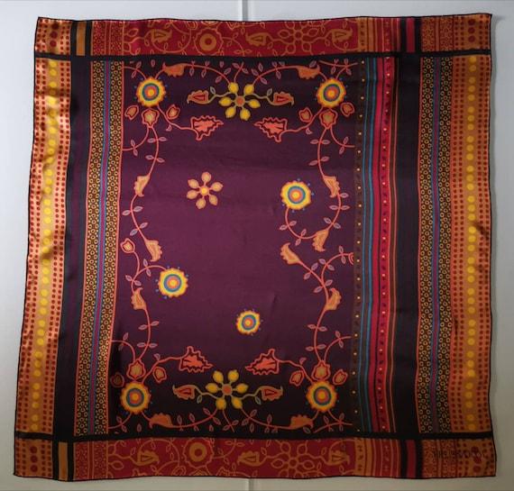 TRUSSARDI, Silk scarf Vintage scarf Italian vinta… - image 3