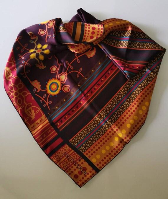 TRUSSARDI, Silk scarf Vintage scarf Italian vinta… - image 4