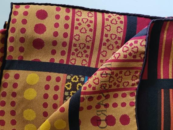TRUSSARDI, Silk scarf Vintage scarf Italian vinta… - image 5