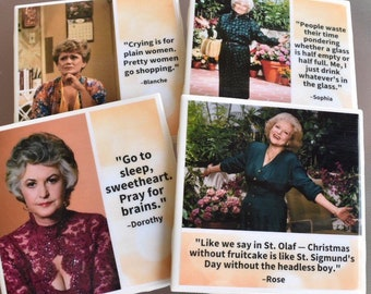 Golden Girls Coasters | Golden Girls | Golden Girls Gifts