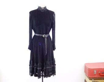 61399cf390 Vintage gothic lolita dress by Wolf H Busse