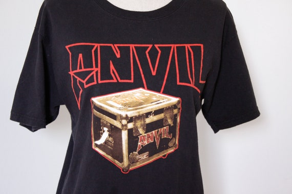 Vintage Anvil heavy metal t-shirt, gildan shirt ad
