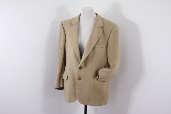 Vintage Burberry camel hair blazer size 42, classi