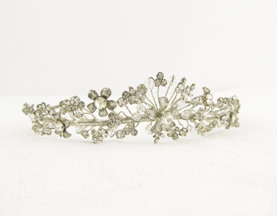 Rhinestone crown, vintage wedding tiara