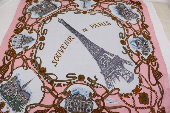 Souvenir de Paris Pink Scarf, Patricia paris touri