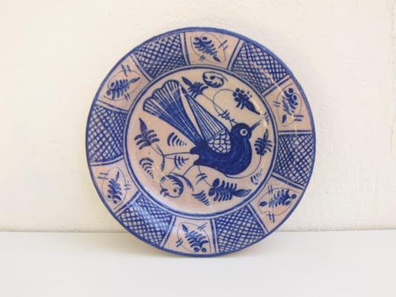 Assiette en fa ence murale judaica plat en c ramique - Assiette murale ...