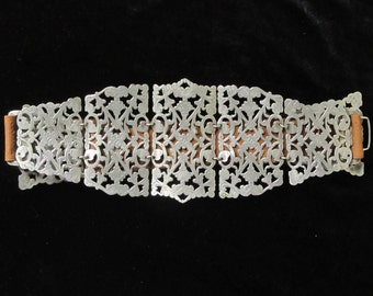 Antique Victorian belt, vintage ladies belt, steampunk costume accessory, television theater prop, roleplaying LARP reenactment