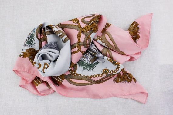 Souvenir de Paris Pink Scarf, Patricia paris tour… - image 9