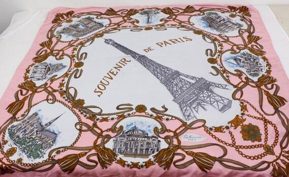 Souvenir de Paris Pink Scarf, Patricia paris tour… - image 2