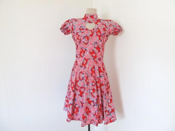 Pink lolita dress with heart cutout