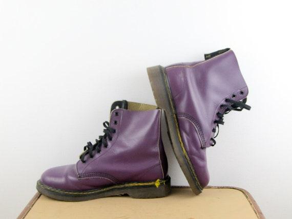 Eu Stiefel Grunge 40 Uk Jahre Schuhe 7 Martens Vintage Damen 5 8 Ösen Dr Us9 1990er Lila FKJc1l