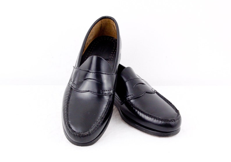 20b765a6a62 G.H. Bass and Co black leather penny loafers W10   M7.5