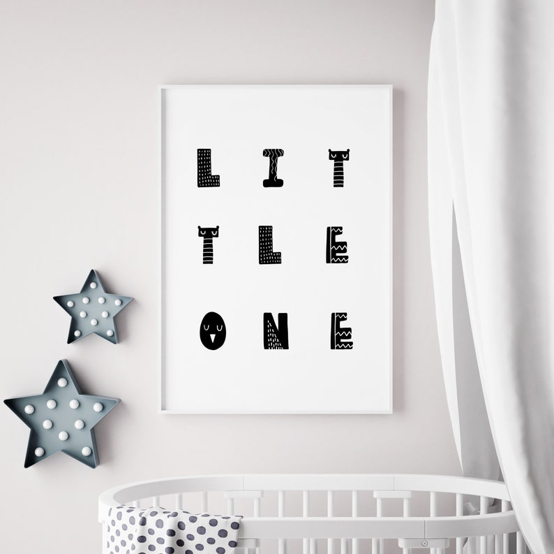 Printable Nursery Quote  Little One Print Nursery Prints image 0