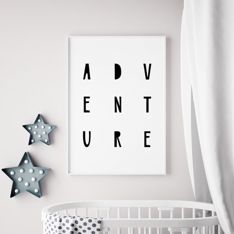 Adventure Quote for Nursery  Printable Quotes Nursery image 0