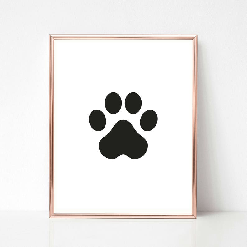 graphic regarding Printable Paw Prints referred to as Paw Print Printables Printable Wall Artwork, Puppy Mother Reward, Cat Paw Print Wall Artwork, Doggy Partner Reward