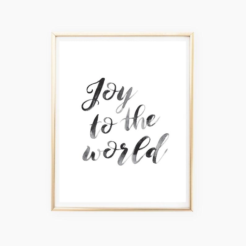 Joy to the World Christmas Printable Wall Art Christmas image 0