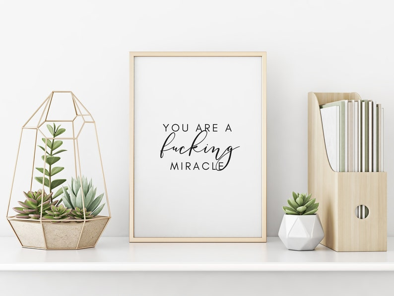 You Are a Miracle Printable Wall Art Inspirational Prints image 0
