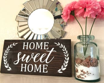 Home sweet home reclaimed pallet wood sign   wall decor   home decor