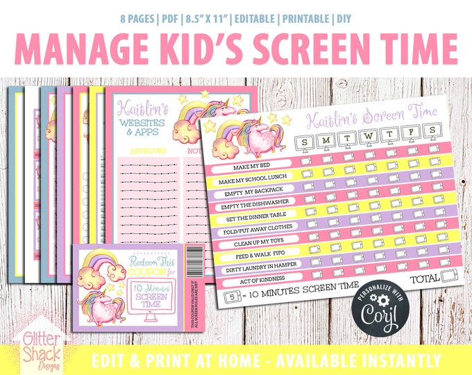 Rainbow Unicorn Screen Time Kit