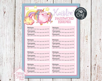 Unicorn Password Tracker