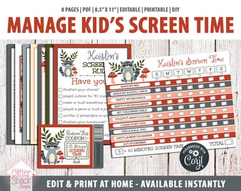 Woodland Raccoon Screen Time Kit