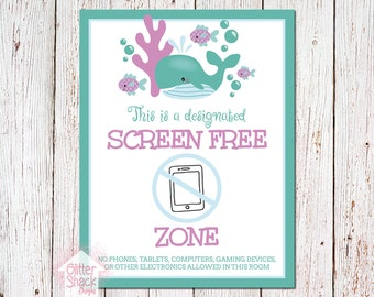 Ocean Screen-Free Zone Sign