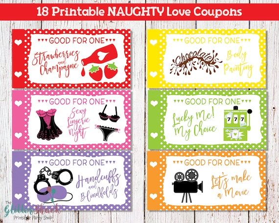 Printable Naughty Love Coupons For Men Husband Boyfriend Etsy