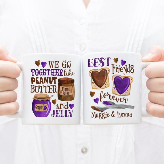 Personalized PB & Jam Best Friends Mug - BFF Gift Idea