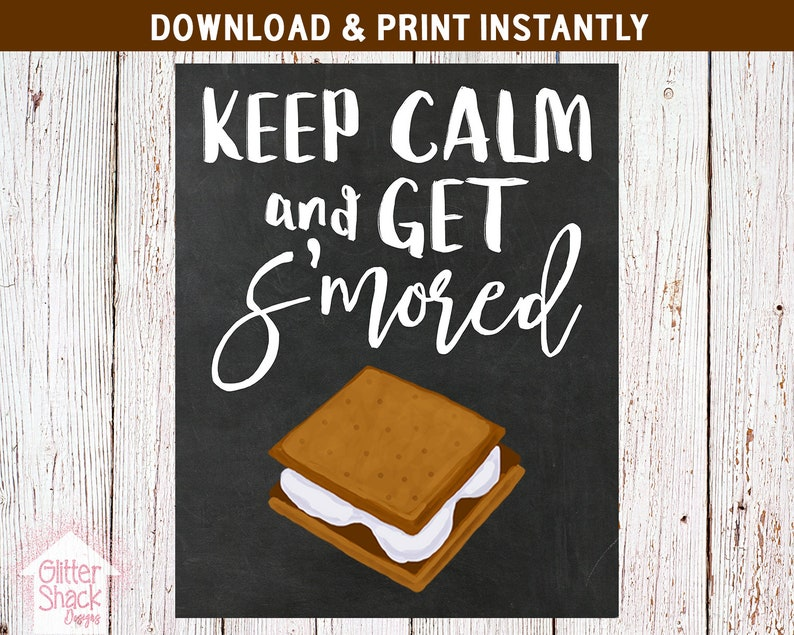 S'more Sign S'more Wedding Sign PRINTABLE image 0