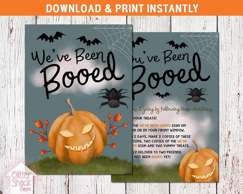 You've Been Booed Sign We've Been Booed Halloween image 0