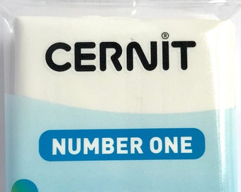 900027 7 Bars White Opaque Cernit modeling clay 56 grams (2oz)