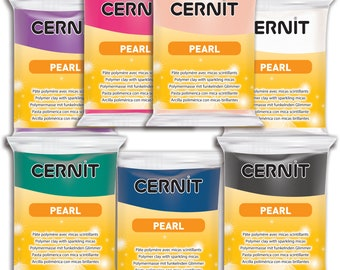 986000 7 Assorted Bars of the New Pearl Colors Cernit modeling clay 56 grams (2 oz)