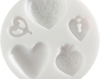 95115 Hearts Mold Cernit