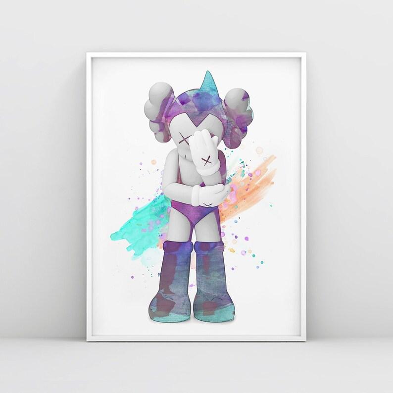 54a3a0aa Kaws Astro Boy companion Kaws Wall Art Print Kaws | Etsy