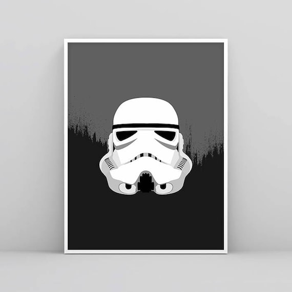 Stormtrooper Wandkunst Storm Trooper Star Wars Poster Black | Etsy