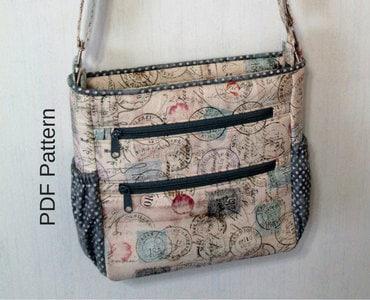 2cb421ace6f4 Johanna Crossbody Bag. PDF Sewing Pattern. Crossbody Bag.